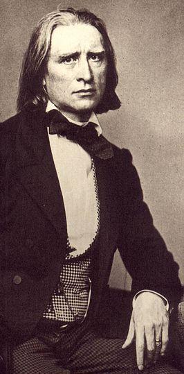 Foto van Liszt door Franz Hanfstaengl, 1858