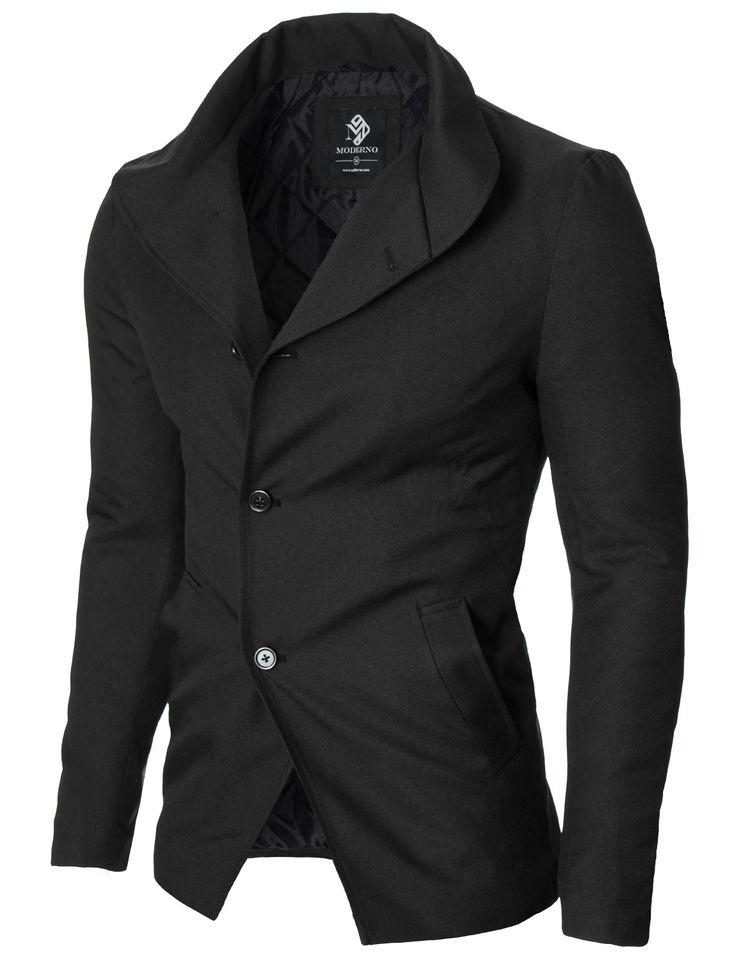 MODERNO Mens Casual Blazer Jacket (MOD14520B) Black