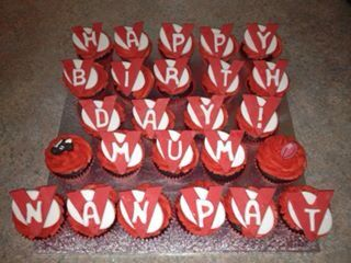 Sydney Swans inspired birthday cupcakes for my beautiful nan x