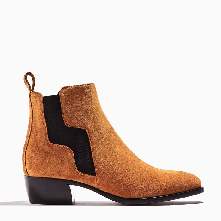 Tan suede calf GIPSY boots Black leather lining In the spirit of the Camargue region, these boots with an arched heel are given definite rhythm by an elastic...