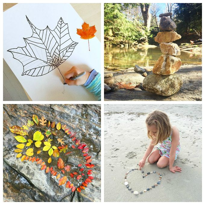 Nature Art for Kids - 33 Nature Art Activities for Children