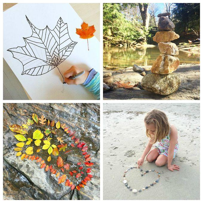 Nature Art for Kids - 33 Nature Art Activities for Children