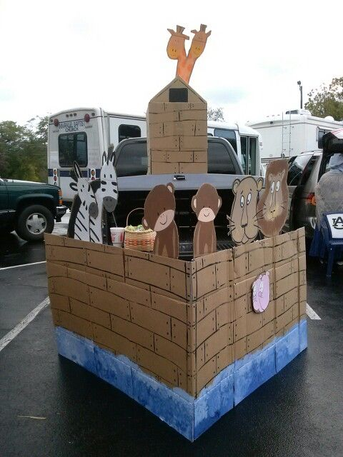 Trunk or treat noah ark and trunks on pinterest for Noah s ark decorations