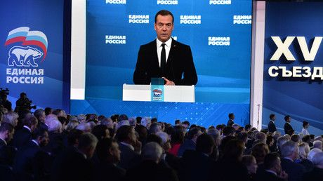 United Russia reelects PM Medvedev as leader