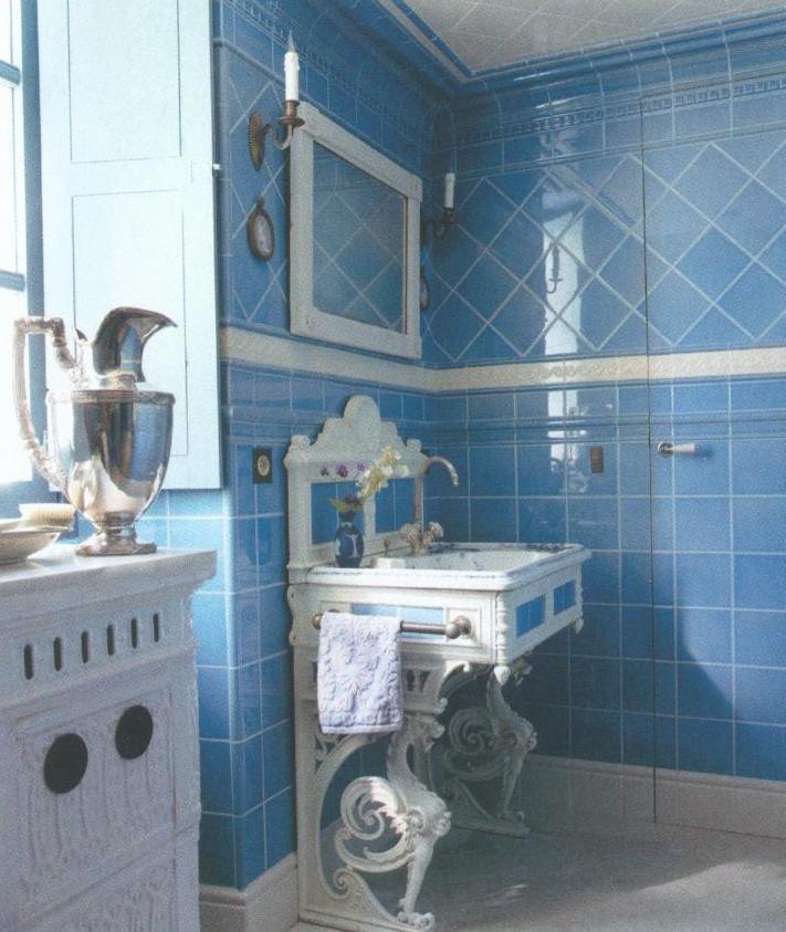 Tile Bathroom From Elle Decor April  Gorgeous
