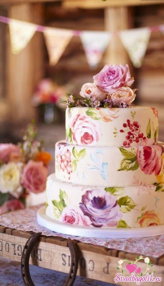Amazing Watercolor Wedding Cake