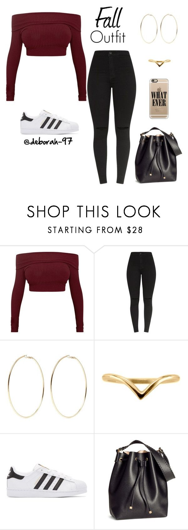 """Fall Outfit #15"" by deborah-97 ❤ liked on Polyvore featuring Kenneth Jay Lane, adidas Originals, H&M and Casetify"