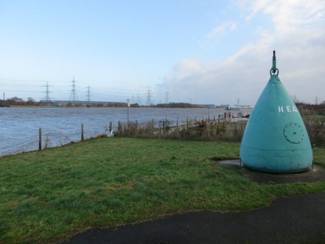 Old buoy and high tide at Connah's Quay by John S Turner, via Geograph