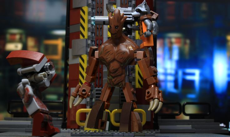 I built Groot from the new Lego Marvel game