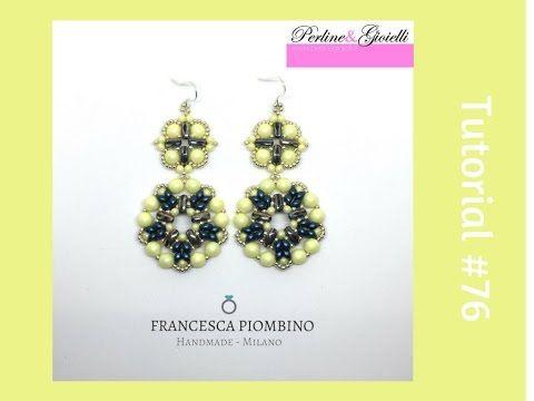 TUTORIAL PERLINE [76] - Orecchini Bari, collaborazione con Perline&Gioielli: calì beads ed es-o - YouTube