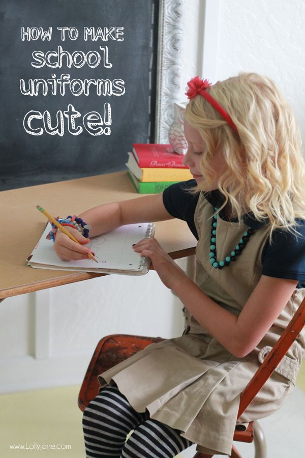 How to make school uniforms cute! #oshkoshfirstday