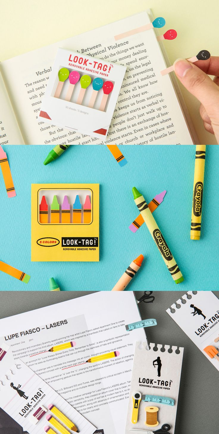 Adorable and perfect for teachers & classrooms! The Themed Tag Sticky Note Set comes in 16 styles and features the cutest, most colorful designs. Pick your favorite designs and decorate your planner, mark pages, craft, and so much more!