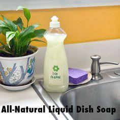 Borax-Free and Natural Liquid Dish Soap