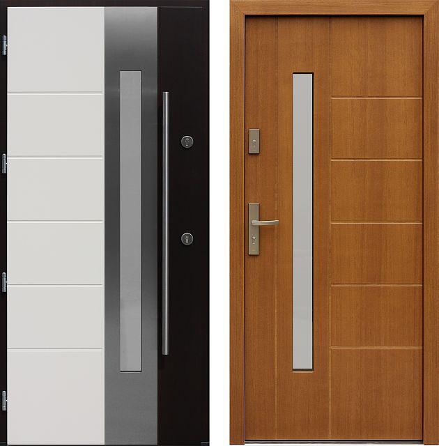 Drzwi wejściowe do domu z katalogu inox wzór 493,1