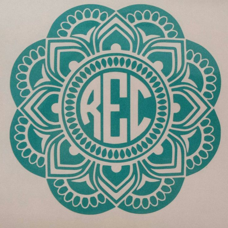 Car cutting sticker design - Am So Excited About This New Mandala Monogram I Have Added To My