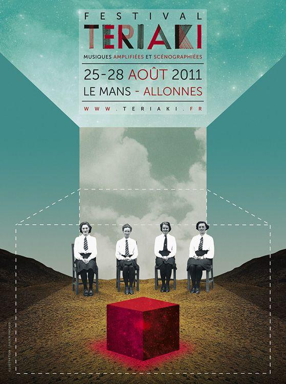 Festival Teriaki - Julien Pacaud • Illustration • Perpendicular Dreams