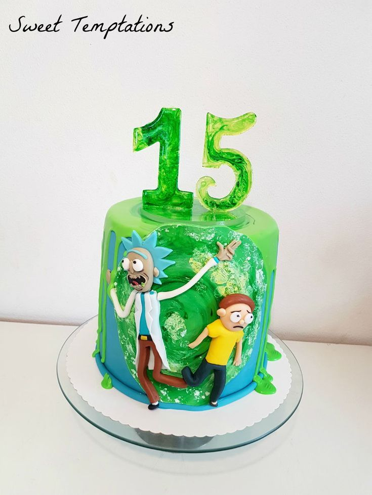Rick Morty Birthday Cake For My Son S 15th Birthday The Topper