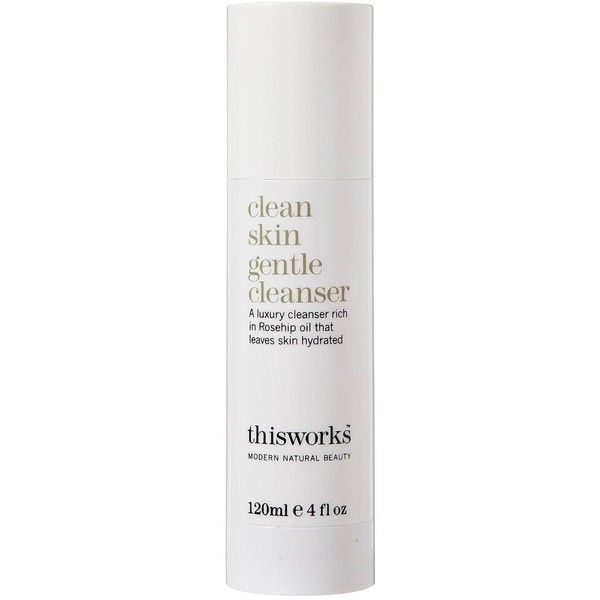 This Works Clean Skin Gentle Cleanser 120Ml found on Polyvore featuring beauty products, skincare, face care, face cleansers, paraben-free face wash, gentle facial cleanser, antibacterial face wash, paraben free face cleanser and moisturizing facial cleanser