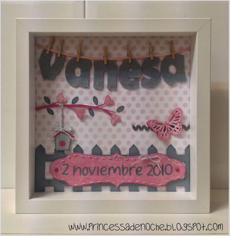 Cuadro personalizado con nombre y fecha de nacimiento para decorar habitacion