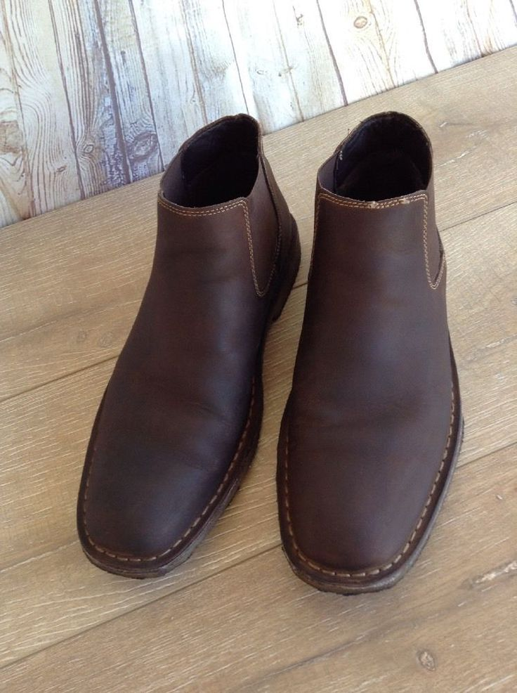 Johnston Murphy Brown Leather Slip-ons Ankle Boots Sheepskin Mens Size 11M | Clothing, Shoes & Accessories, Men's Shoes, Dress/Formal | eBay!