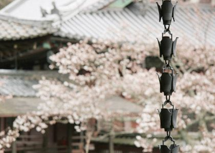 Japanese rain gutter chain