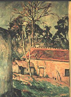 """""""Cortile di fattoria a Auvers"""", olio su tela, Parigi, Musée d'Orsay, 1879 circa."""