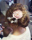 пион для волос прическа с пионом украшение для пучка