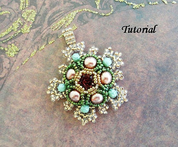 TUTORIAL for Isabella pendant by PeyoteBeadArt on Etsy, $5.75