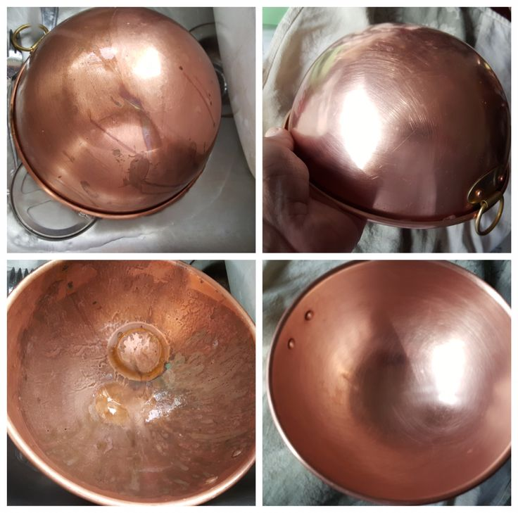 Brass Copper Bowl Cleaned Up By Bar Keepers Friend