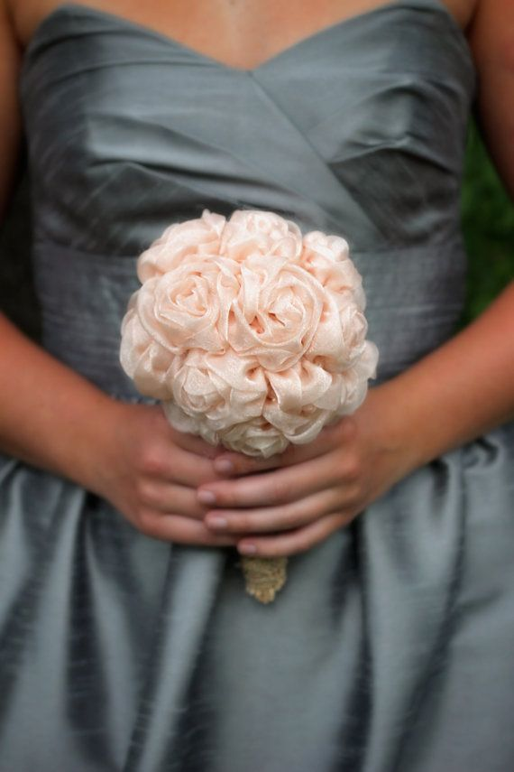 Set of 5 Bridesmaid Bouquets Fabric by ElegantDetailsStudio