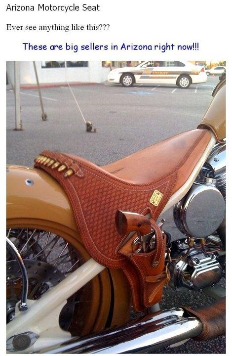 I stand behind AZ! ♥: Irons, Guns, Texas Style, Motorcycles Seats, Except, Bike, Stuff, Custom Motorcycles, Saddles