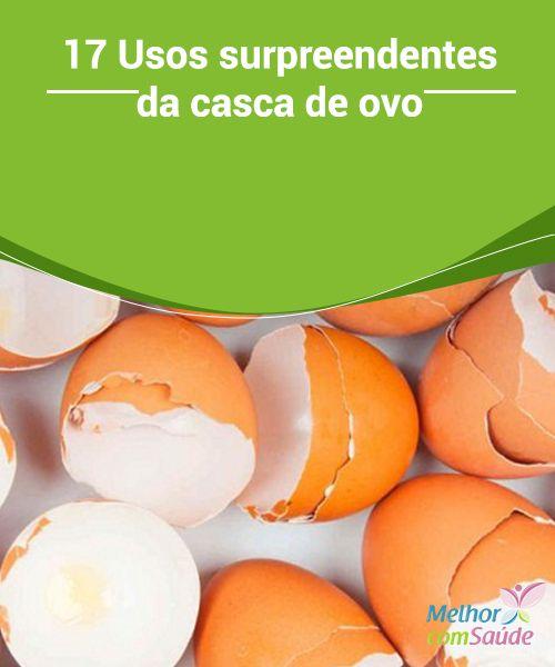 17 #Usos surpreendentes da casca de ovo   A maioria das pessoas acha que a #casca de #ovo é simplesmente lixo. No entanto, ela pode ser um #recurso muito útil para a nossa vida cotidiana.