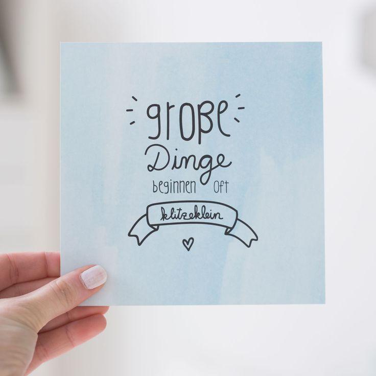 """Postkarte """"Große Dinge beginnen oft klitzeklein"""" - odernichtoderdoch"""