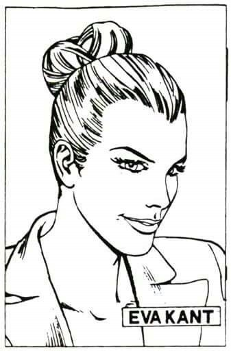 """Eva Kant (Lady Eva Kant) (pronuncia """"Kant"""", non """"Kent"""") è una co-protagonista del fumetto Diabolik. È la compagna del genio del male, il criminale creato dalle sorelle Giussani, ma, più che una remissiva classica fidanzata, è l'immagine speculare al femminile del personaggio (lei bionda e sensuale, lui nero e cupo) e soprattutto una valida complice nell'esecuzione dei colpi. Nel mondo di """"Diabolik"""" è considerata una delle donne più belle del pianeta."""