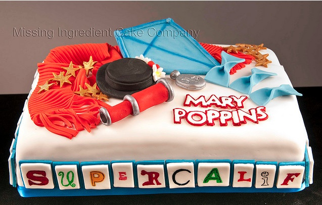Mary Poppins Broadway Show Cake