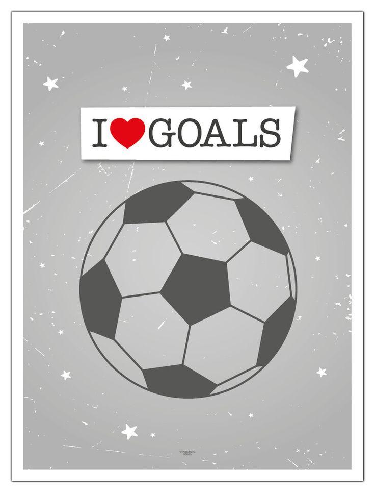 Plakat I love Goals