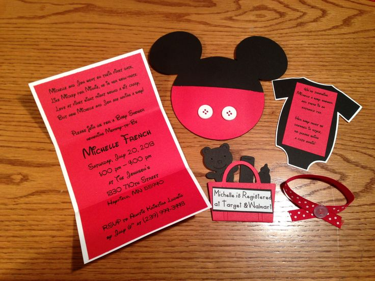 Mickey Mouse Baby Shower Invitations.