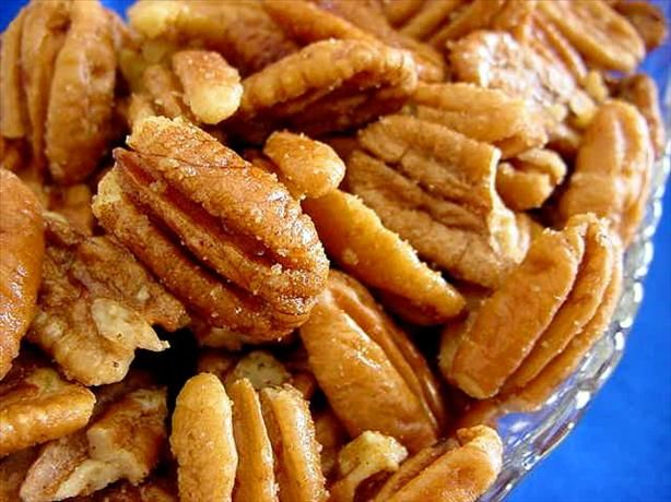 "From a reviewer: ""For those making odd-sized batches, you need approx. 1 TBSP butter per 1 cup of pecan halves. I tend to like a lighter touch on salt, so I added 1/8 tsp. per cup of nuts (or approx. 1/2 tsp. per pound of pecans)."""