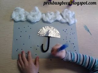 Pre-K Busy Bees: Spring Weather: Rainy umbrella art