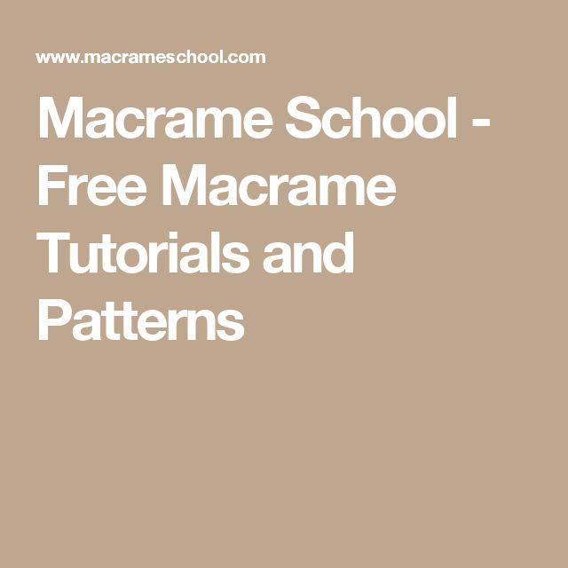 Macrame School - Free Macrame Tutorials and Patterns