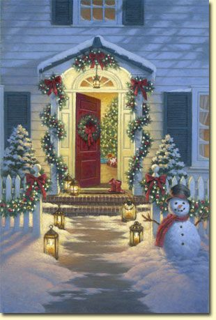 I think I could totally pull this off with the red door and everything! Well, except for the snow.