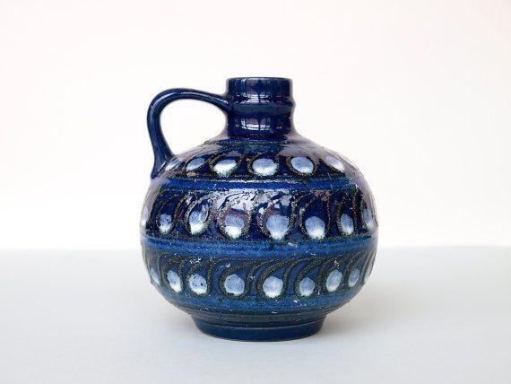 VEB STREHLA Mid Century Handled Vase Form 9017 by BetterLookBack