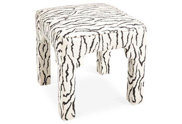 Hicks Cotton Zebra Stool For The Home Pinterest