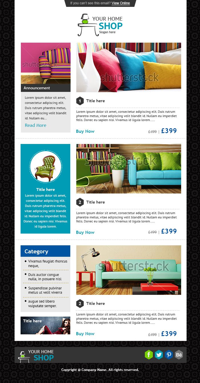 21 best Newsletter Templates and Email Marketing images on Pinterest