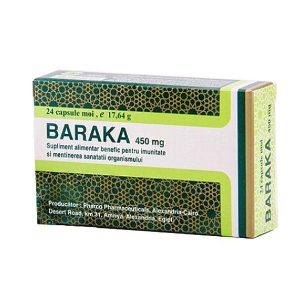 Baraka ( Nigella sativa )  supliment imunitate Prin componentele antioxidante, antiinflamatorii, antitusive, bronhodilatatoare şi nutritive din uleiul de Negrilică (Nigella sativa), Baraka este un supliment benefic pentru sănătatea aparatului respirator şi poate fi un suport optim pentru imunitate atât la copii, cât şi la adulţi şi vârstnici.