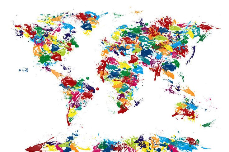 これは部屋に飾りたい!普通とは違うクリエイティブでオシャレな世界地図