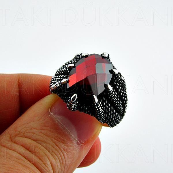 Kartal Pençesi Modeli Gümüş Erkek Yüzük Pençe Yüzüğü