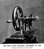 This is the first modern sewing machine invented in Boston in 1846 by Elias Howe. Although machines for sewing had been tried before this, Howe incorporated the modern features that made the machine possible, such as the eye near the point of the needle, the lock stitch, fabric feeder and others. Singer stole his idea and created a more successful company, but Howe sued him and won all of Singer's profits. Howe went on to invent the zipper as well, but never patented it and the idea was…