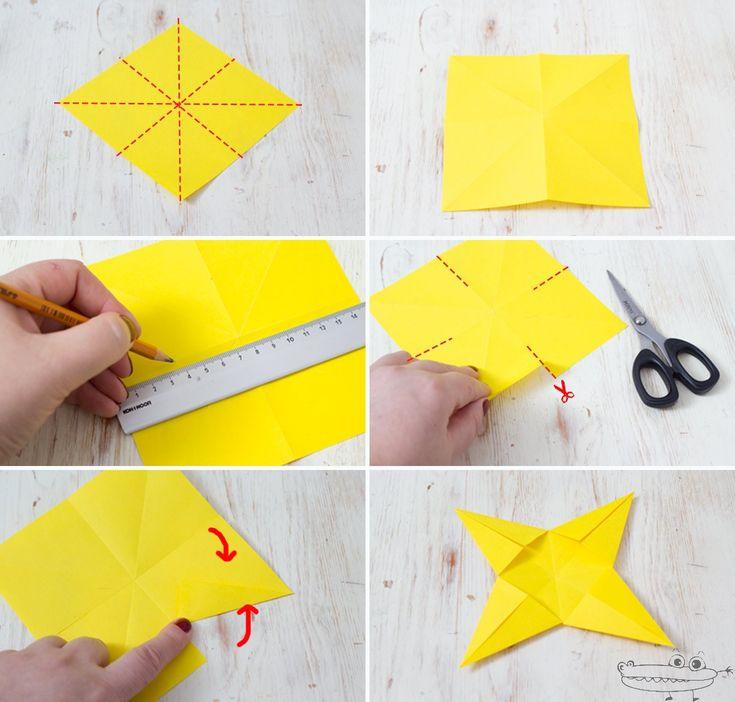 Esta estrella de navidad 3d de papel es realmente - Como hacer estrellas de navidad ...