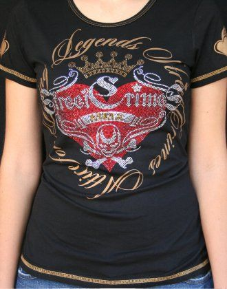 Front of our 'Romance' Tee in black